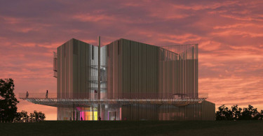 An artist rendering of Oklahoma Contemporary Arts Center new headquarters