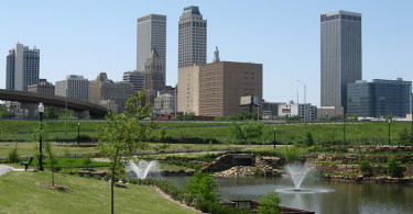 Downtown Tulsa Skyline in May 2008.